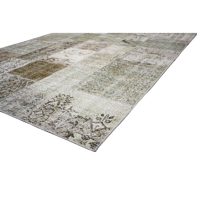 """Overdyed Patchwork Rug - 6' 7"""" X 9' 9"""" - Image 2 of 2"""