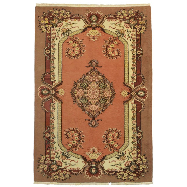 "RugsinDallas Hand Knotted Wool Turkish Rug - 5'7"" X 8'5"" - Image 1 of 2"