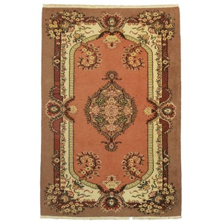 "Hand Knotted Wool Turkish Rug - 5'7"" x 8'5"""