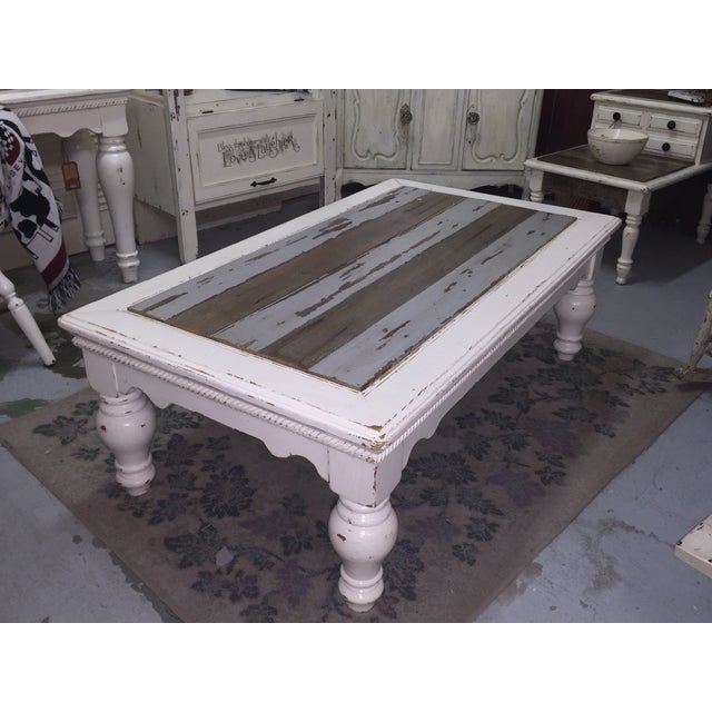 Vintage French Provincial White Coffee Table - Image 5 of 11