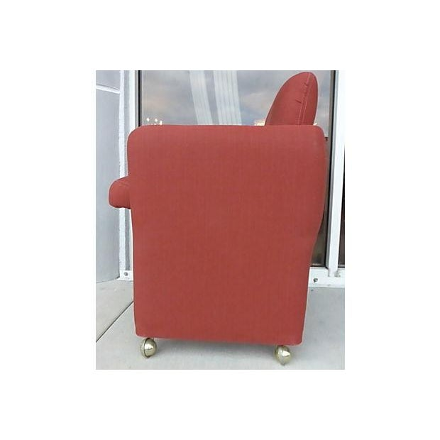 Image of Italian Red Upholstered Dining Chairs - Set of 6