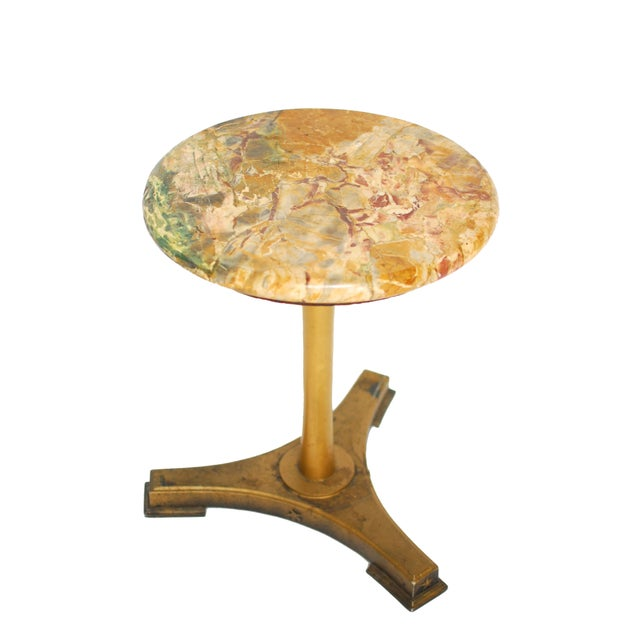 Image of Neoclassical Style Variegated Marble Table