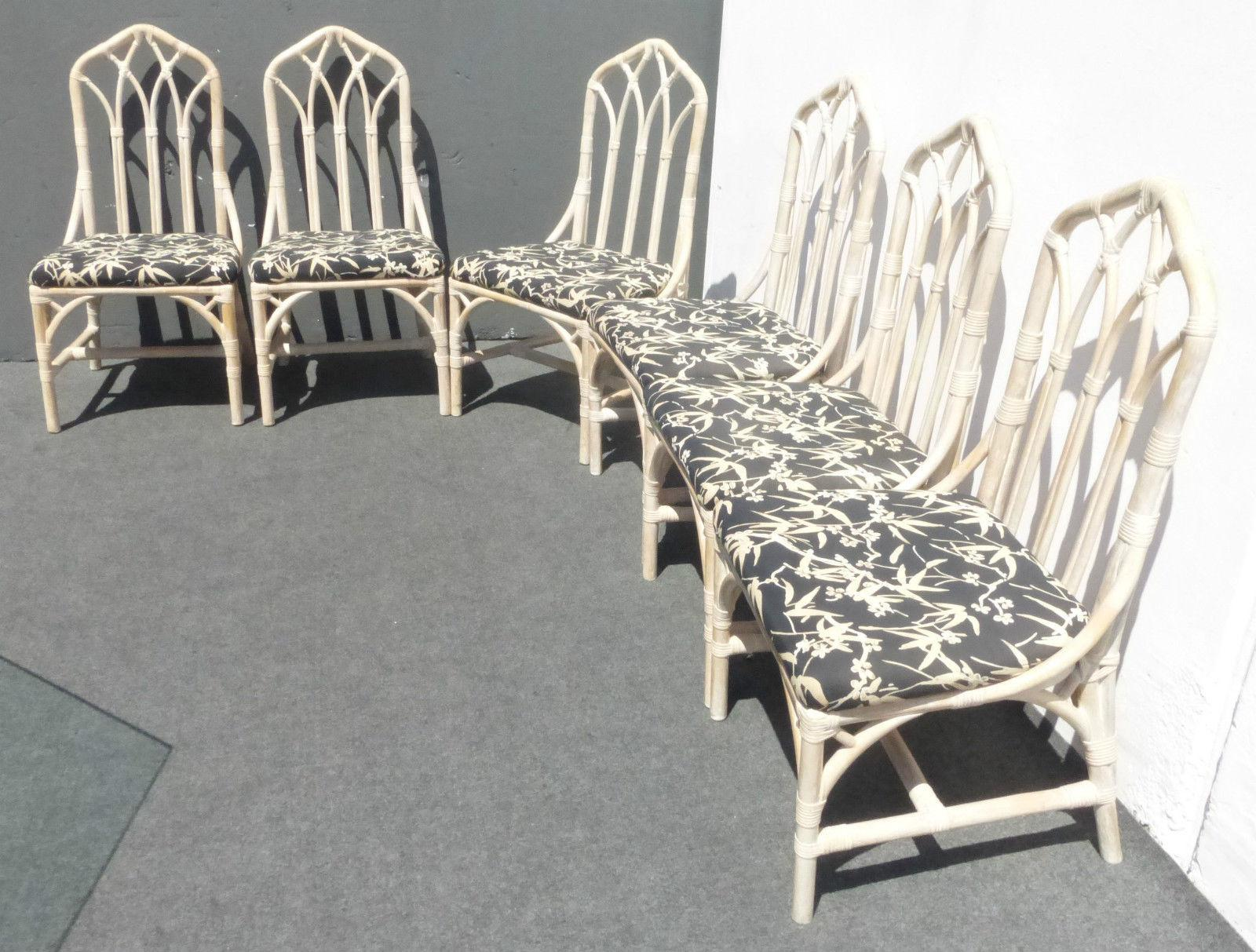 Henry Link Bamboo Dining Room Chairs   Set Of 6   Image 4 Of 11