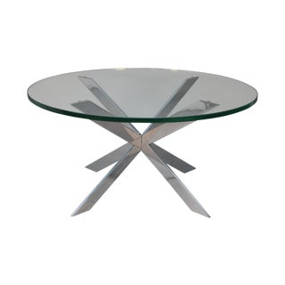 Leon Rosen for Pace Chrome Star Base Coffee Table