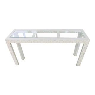 Henredon Chinoiserie Fretwork Console Table