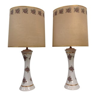 Transferware Lamps - A Pair