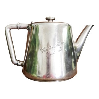Vintage French Silver Teapot From Carlton Hotel