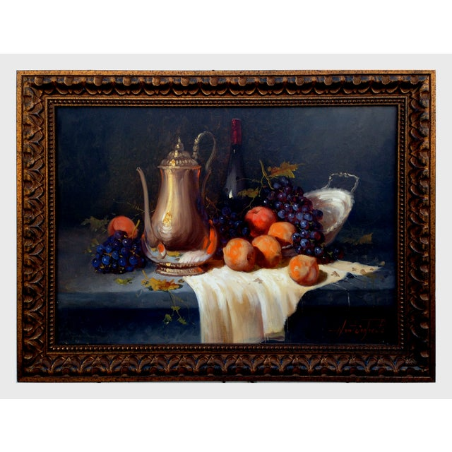 Pears & Grapes Painting by Monteiro Prestes - Image 2 of 4