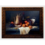 Image of Pears & Grapes Painting by Monteiro Prestes