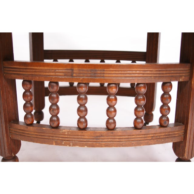 Antique Stick & Ball Dining Table - Image 4 of 7