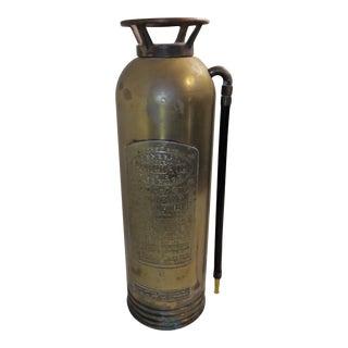 Vintage Brass Industrial Fire Extinguisher