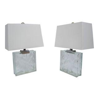 Vintage Ramor Block Lamps - A Pair