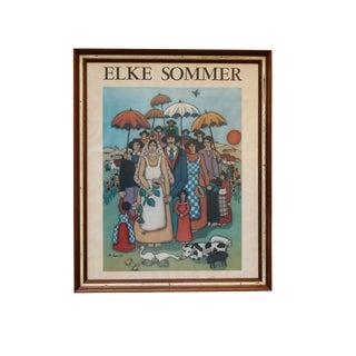 Mid Century Elke Sommer Umbrella Wedding Print 1976