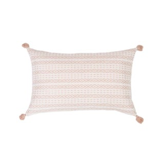 Mexican Blush Handwoven Pillow