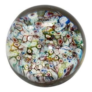 Italian Murano Glass Millefiori Paperweight