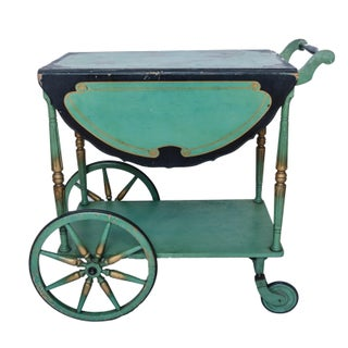1920s Antique Chinoiserie Bar Cart
