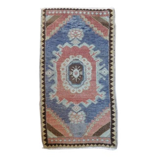 "Old Turkish Oushak Ushak Rug - 1'6"" X 2'9"""