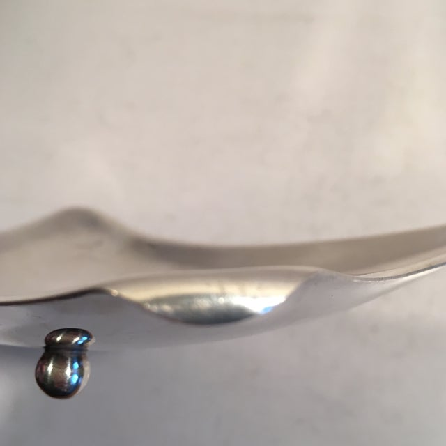 Image of De La Pena Mid-Century Abstract Silver Plate Dish