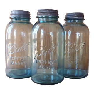 Vintage Ball Mason Jars - Set of 3
