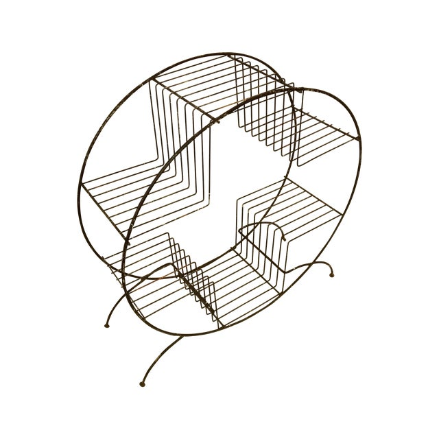 Image of Mid Century Modern Wire Plant Stand Shelf