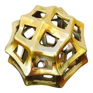 Three Hands Gold Orb Decor