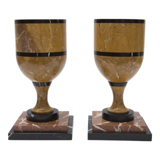 20th C. Marble Urns - A Pair
