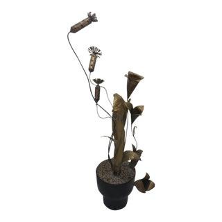 Curtis Jeré Brutalist Plant Sculpture