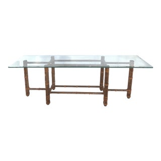 McGuire Rattan Console Table