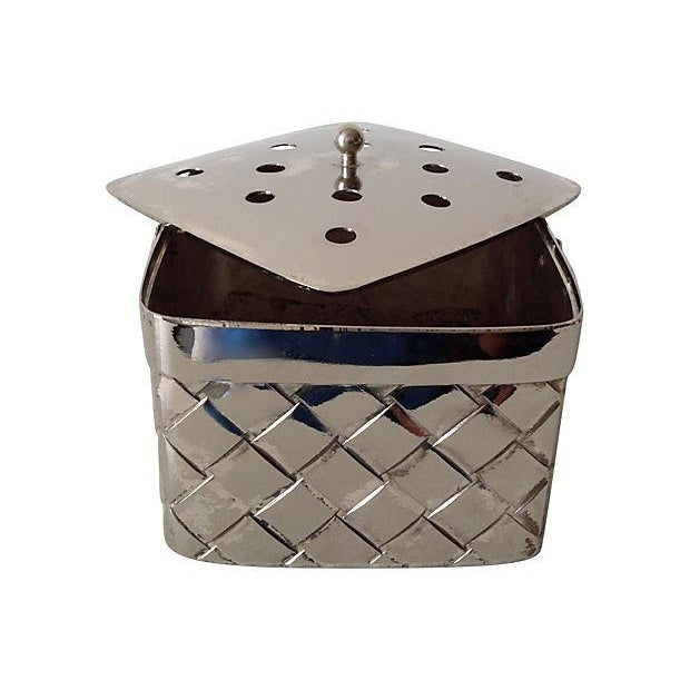 Silverplate Woven Basket Vase - Image 7 of 7