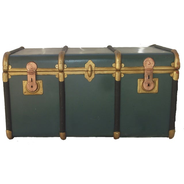 Vintage Italian Made Outer Rib Trunk - Image 3 of 4