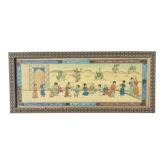 Khatam Marquetry Antique Persian Painting