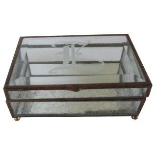 "Glass Monogram ""L"" Jewelry Box"