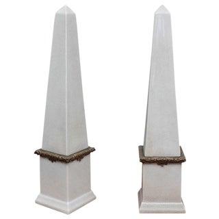 Tall Ceramic Obelisks