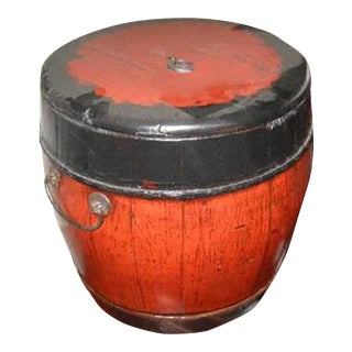 Antique Lidded Bucket