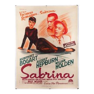 """Vintage Original 1950s French """"Sabrina"""" Audrey Hepburn Poster"""