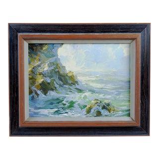 E. John Robinson California Seascape Painting