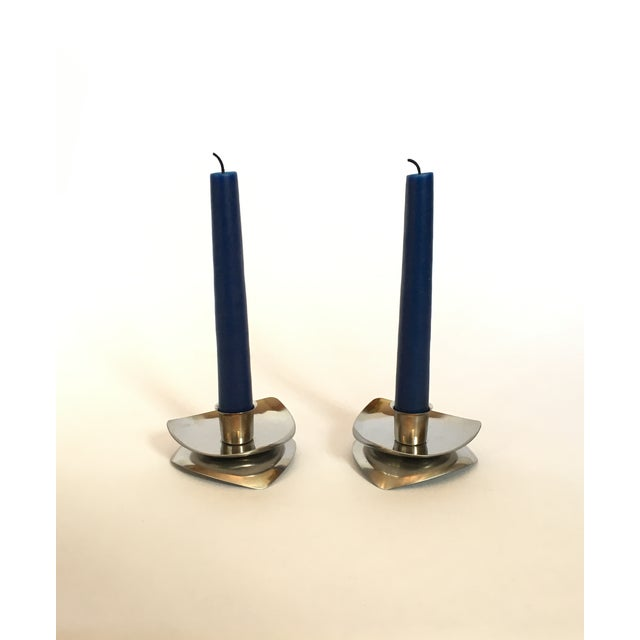 Image of Vintage Danish Modern Candlesticks - A Pair