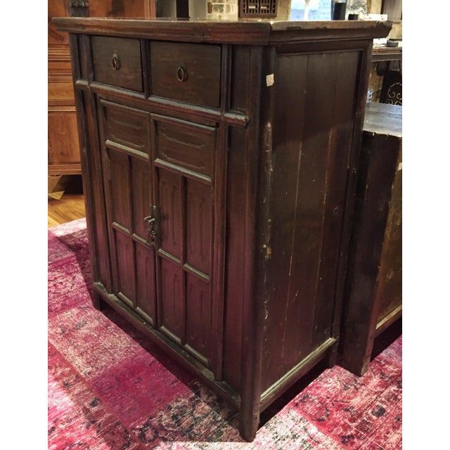 Image of Chinese Antique Tapered Cabinet