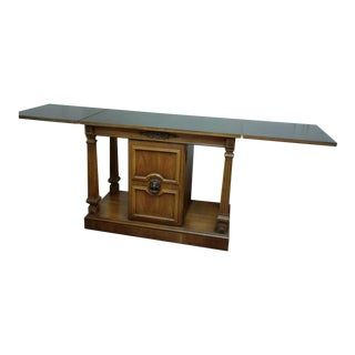Vintage Mid-Century Wood Flip Top Dry Bar