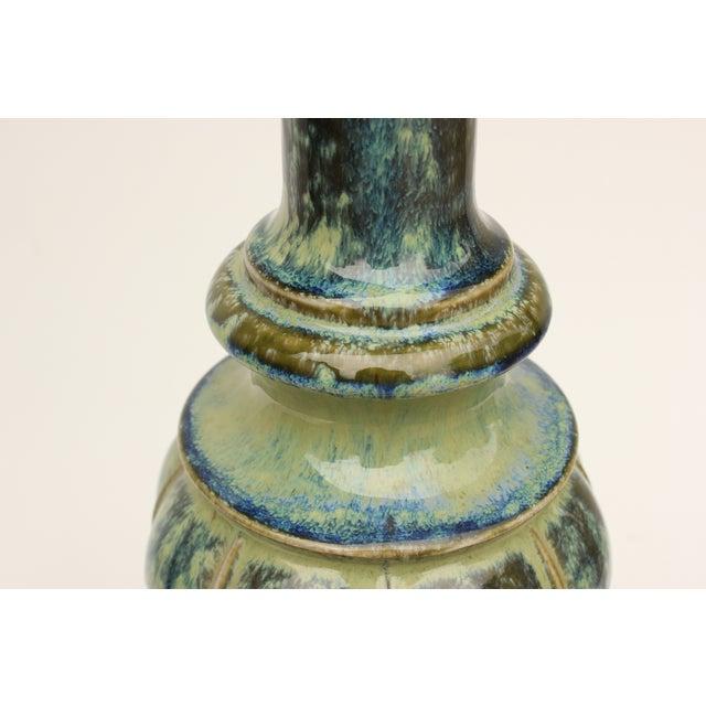 Verdigris Danish Drip Glaze Table Lamp - Image 4 of 6