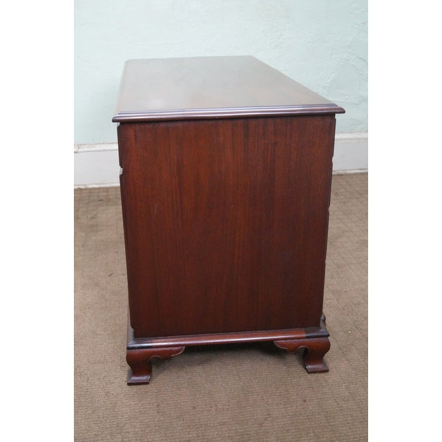 Image of Vintage Mahogany Chippendale Style Writing Desk