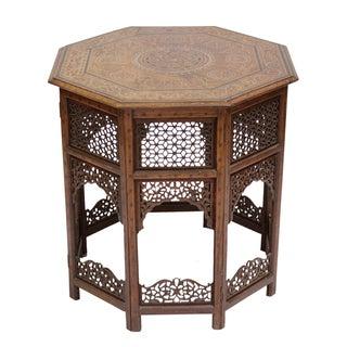 Early 20th Century Moorish Inlay Table