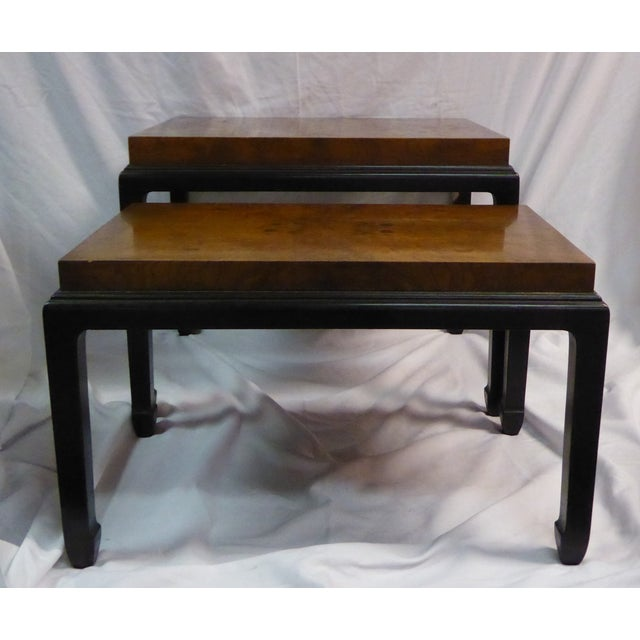 Image of Burl Tops Nesting Tables - A Pair