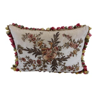 French Appliquéd Silk Velvet Pillow