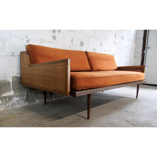 Mid century modern danish daybed chairish for Mid century modern day bed