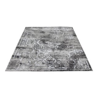 Transitional Silver & Gray Rug - 5′3″ × 7′7″