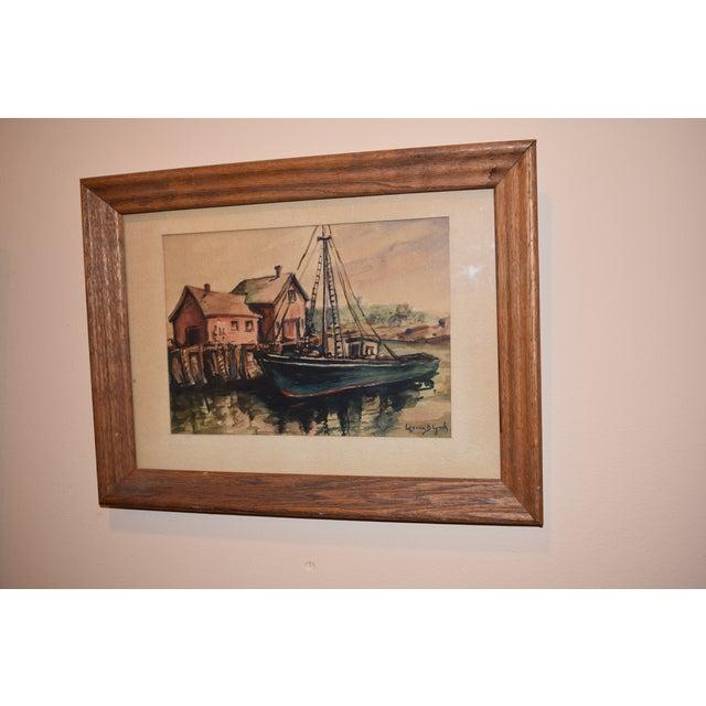 Lorena Lynch Mid-Century Sailboat Watercolor Painting - Image 2 of 6