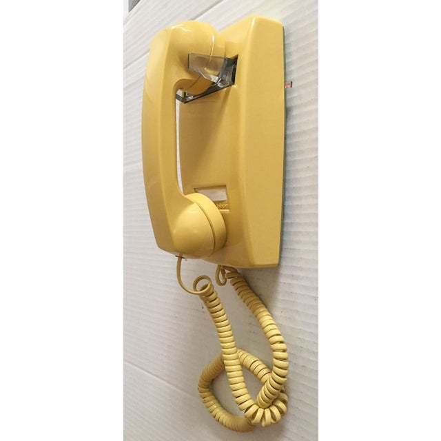 Vintage Yellow Wall Mount Telephone - Image 2 of 6