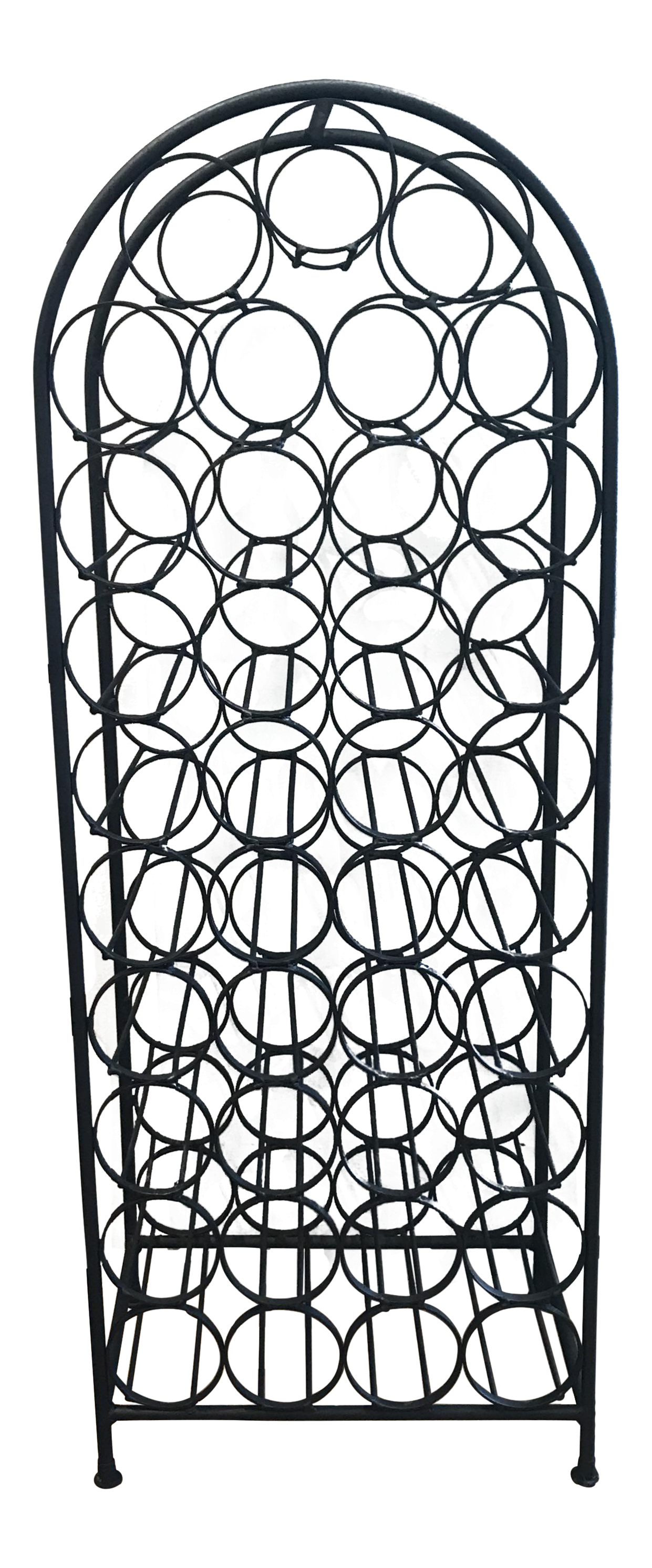 arthur umanoff black iron wine rack