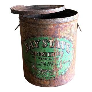 Rustic Bucket Sized Tin